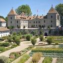 Garten vor dem Schloss Prangins