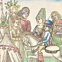 Zeichnung von Melusina von Schloss Landshut