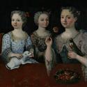 Drei Kinder in Öl auf Schloss Waldegg